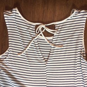 Old Navy Dresses - Classic Navy Stripe Old Navy Dress with Tie Large